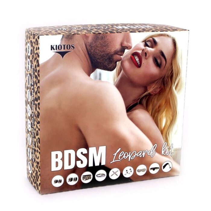 BDSM LEOPARD 9-OSALINE SIDUMISKOMPLEKT